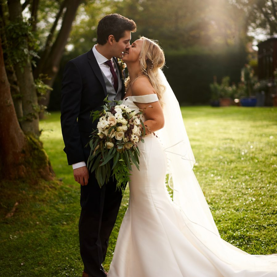 White trailing wild bridal bouquet