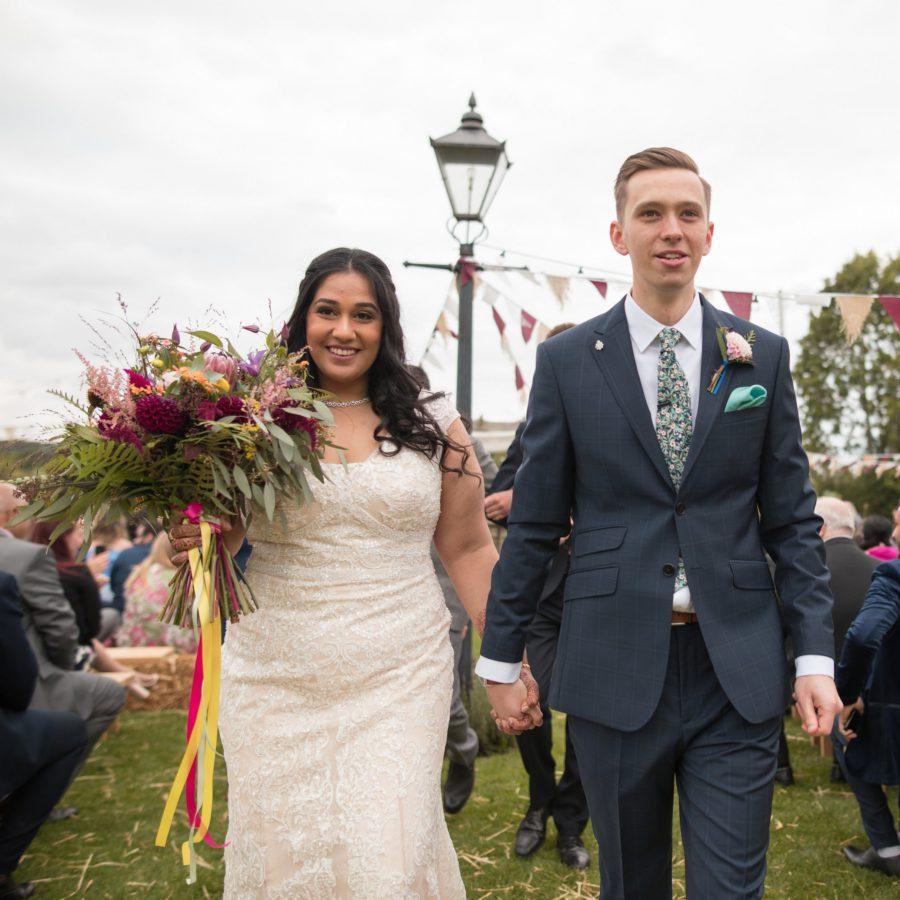 Wild colourful festival theme bridal bouquet