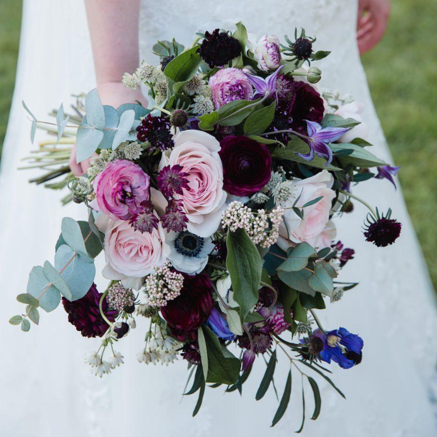 Rose and Ranunculus Bridal Bouquet