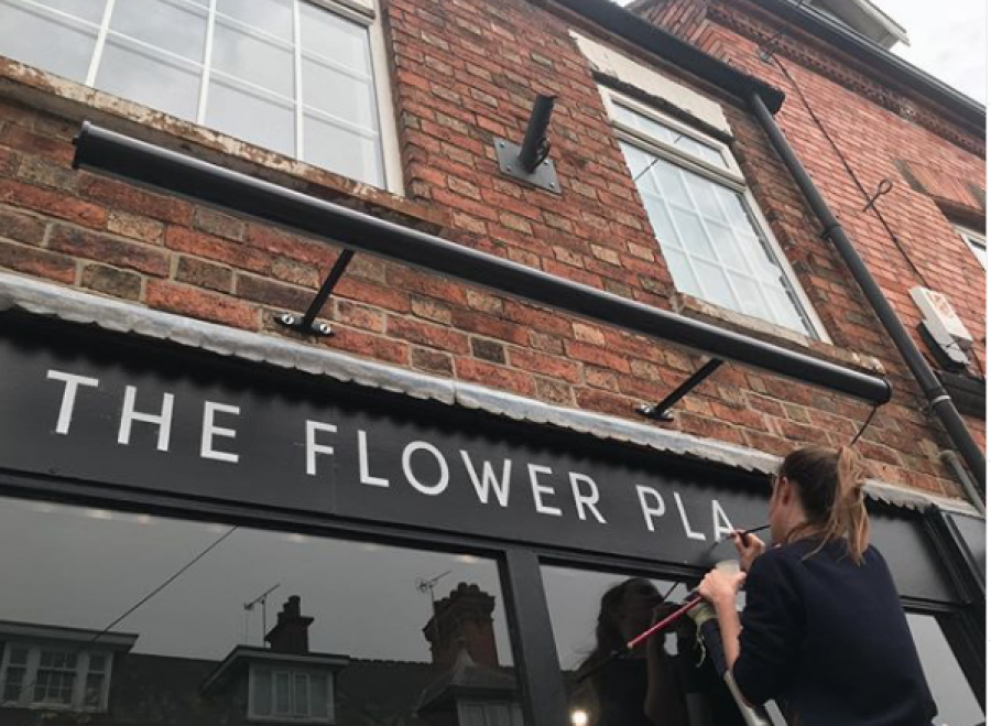 The Flower Plant Sign