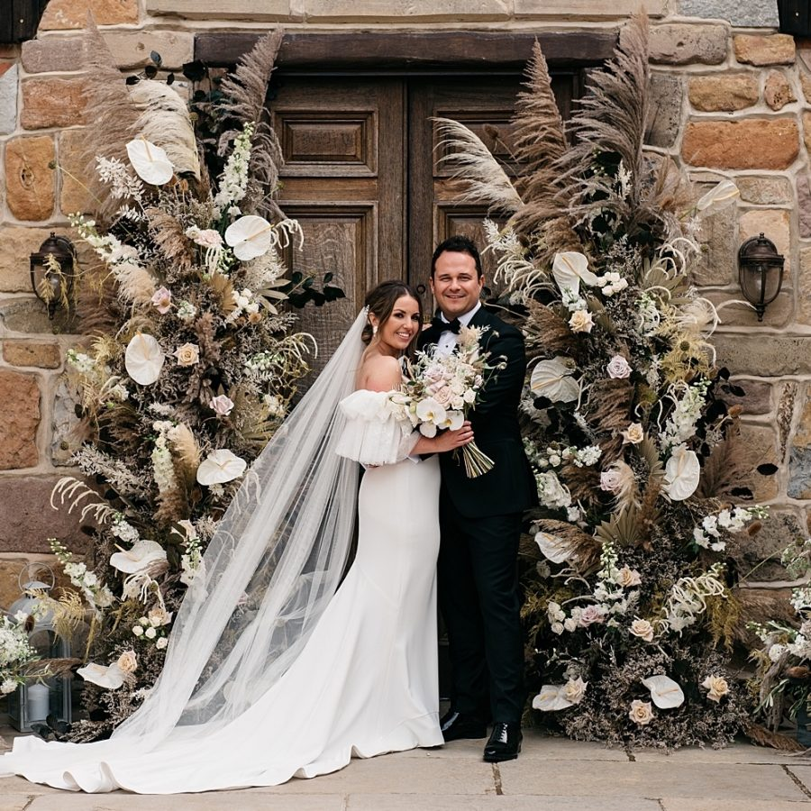 Bride And Groom Floral Archway