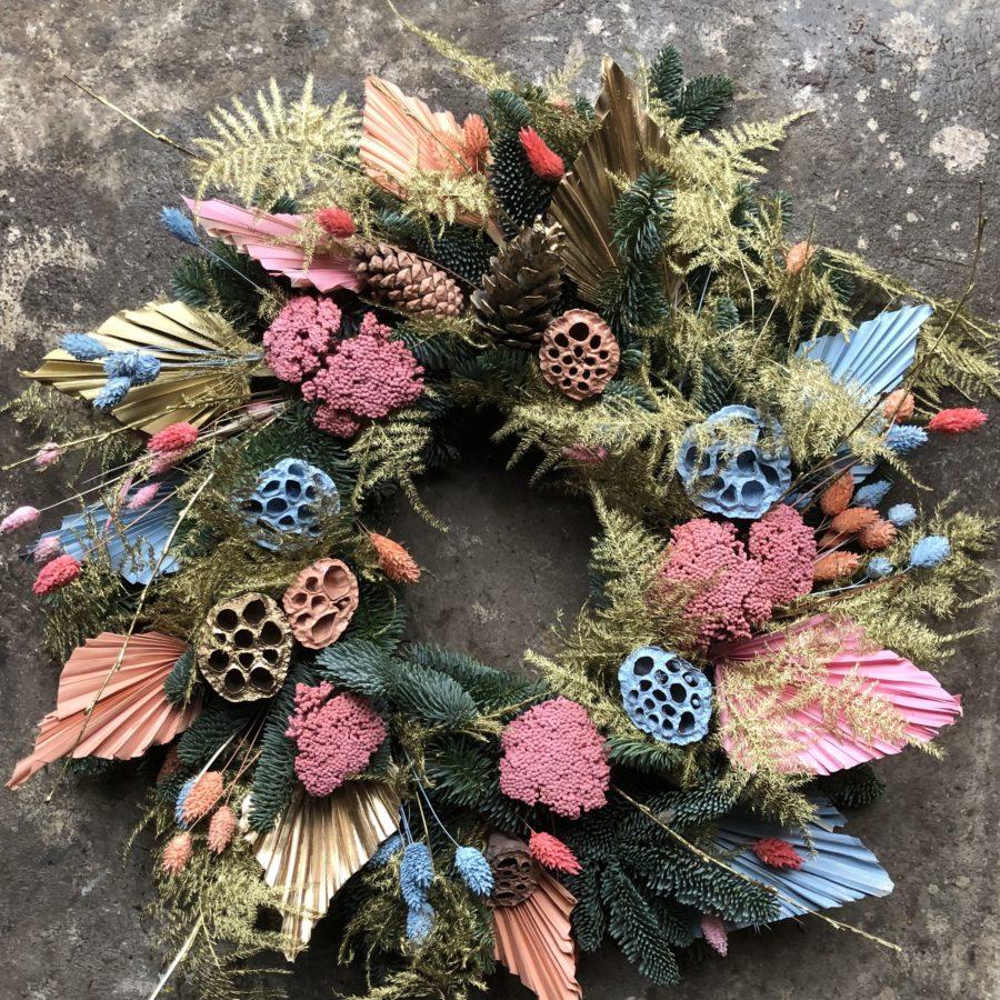 Miami magic christmas wreath