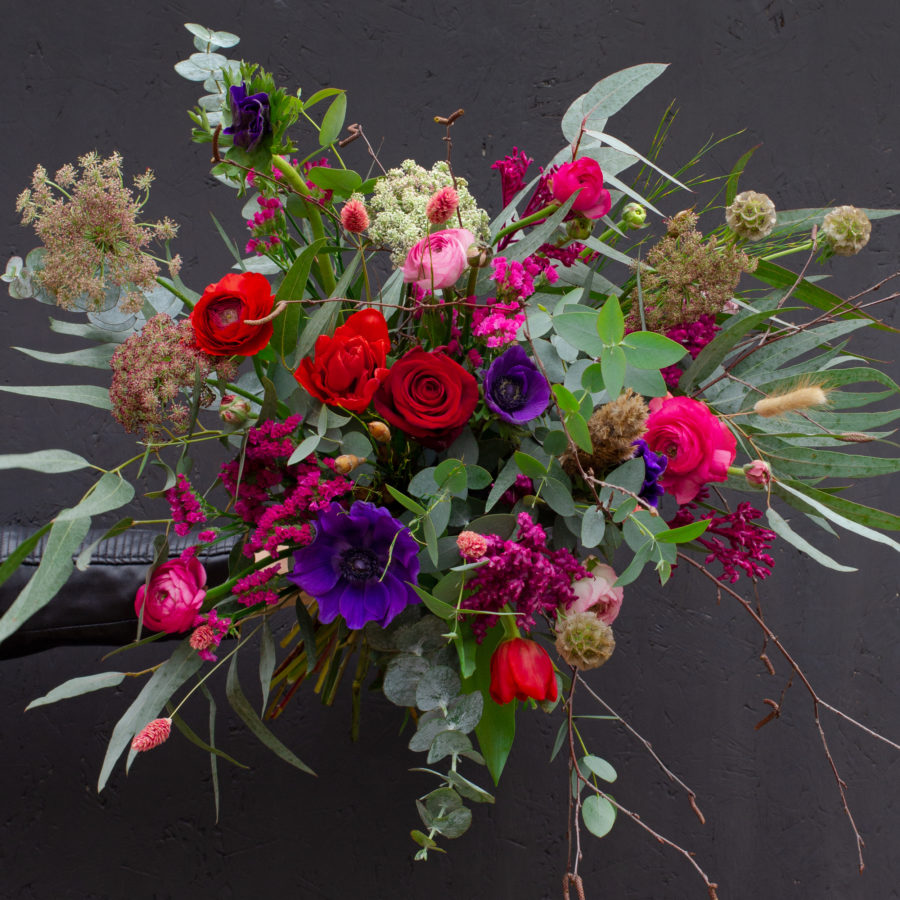 Punchy Pink Wild Valentines Flowers