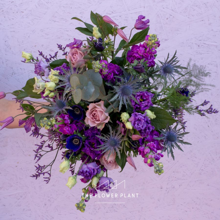 Purple Mother's Day bouquet