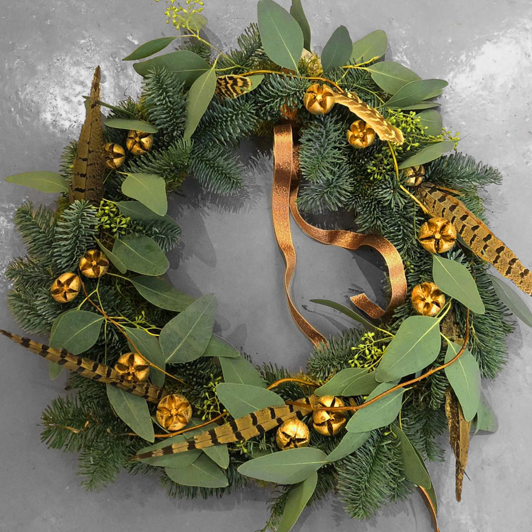 Feathery Christmas Wreath