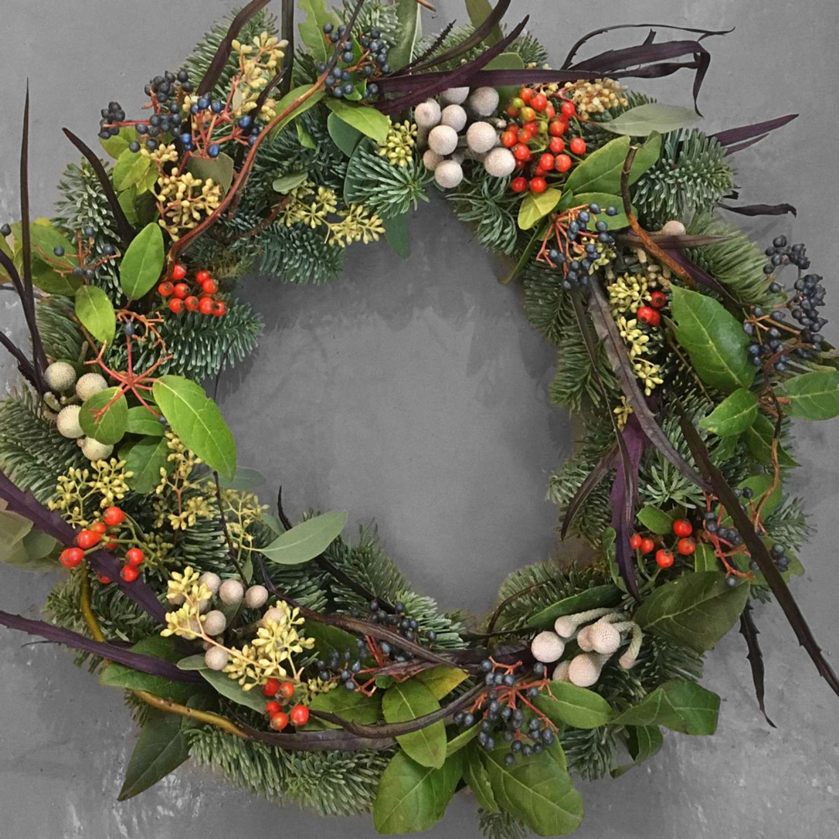 Wild Thing Christmas Wreath