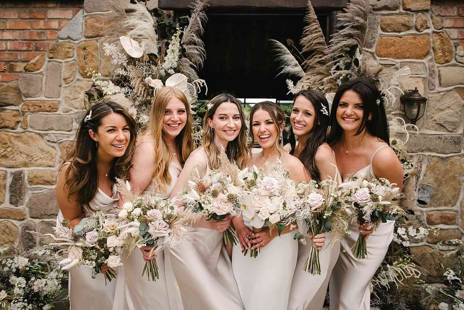Bridesmaids Muted Bouquets