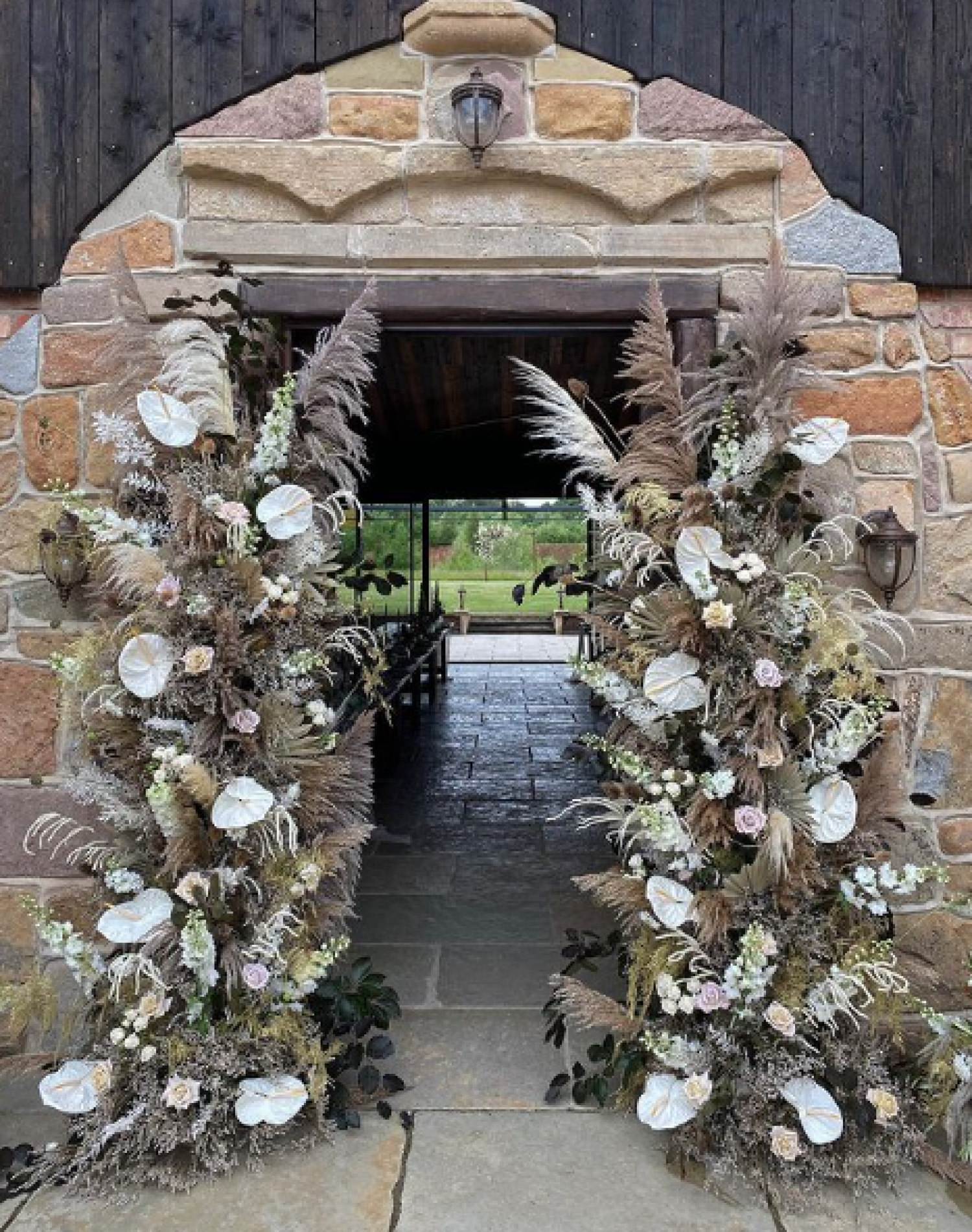 Dried Floral Archway