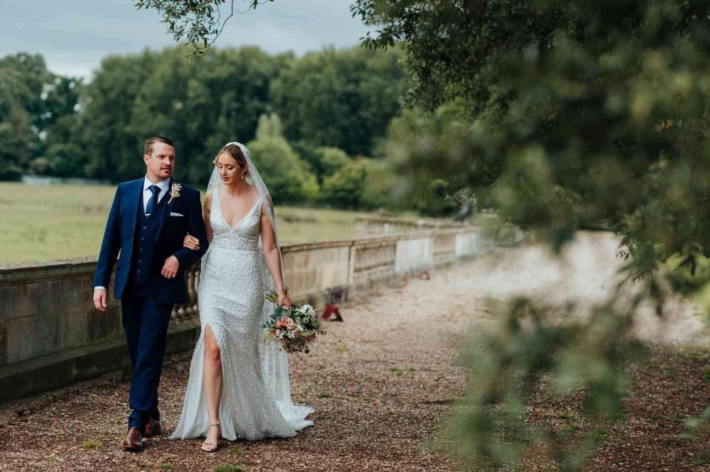 Peach Bridal Bouquet and Buttonhole