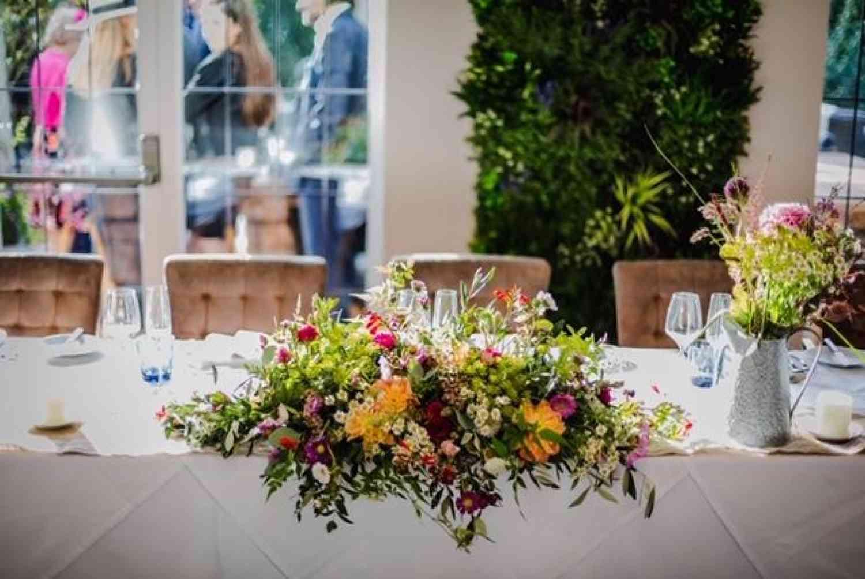 Vibrant Coloured Table Decoration
