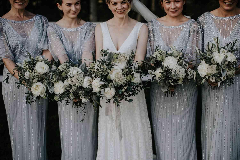 Wild bridesmaids bouquet