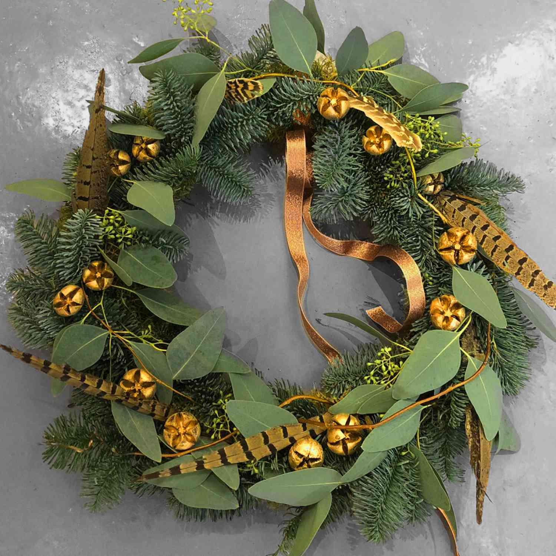 Feathery Christmas Wreath