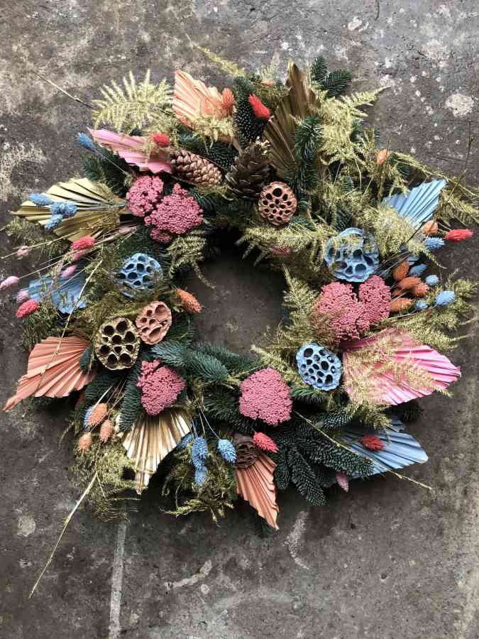 Miami magic christmas wreath