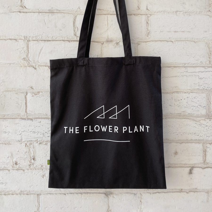 The Flower Plant Tote Bag Black