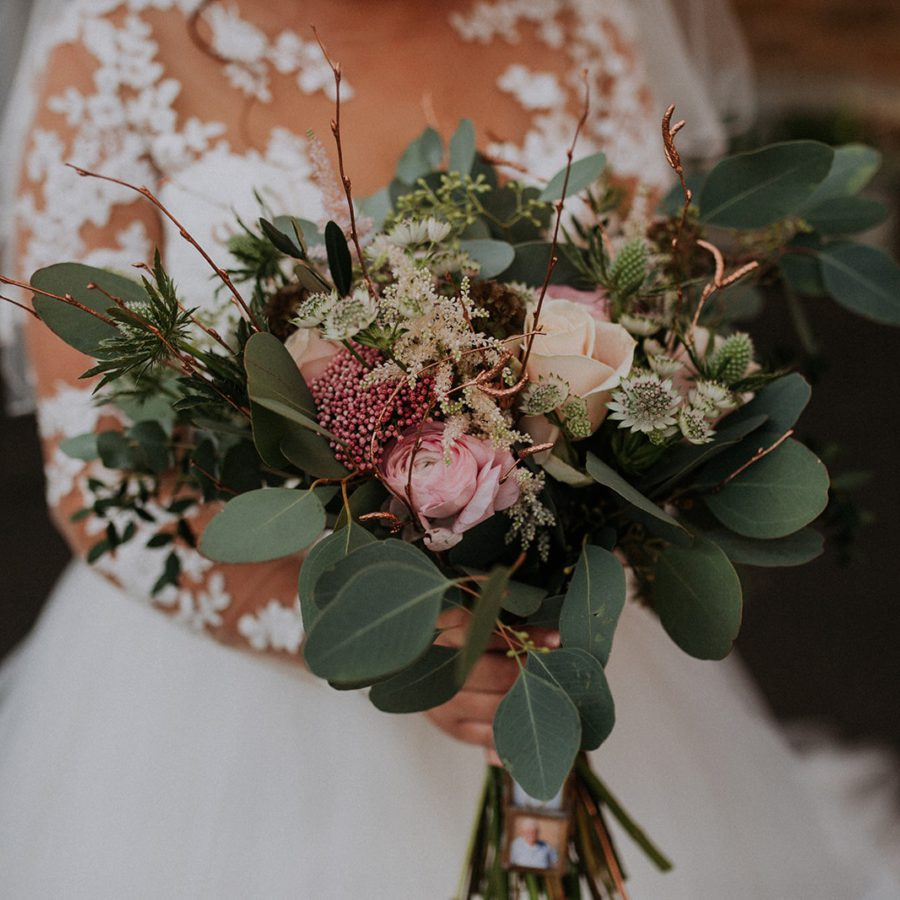 New Years Eve Winter Bridal Bouquet