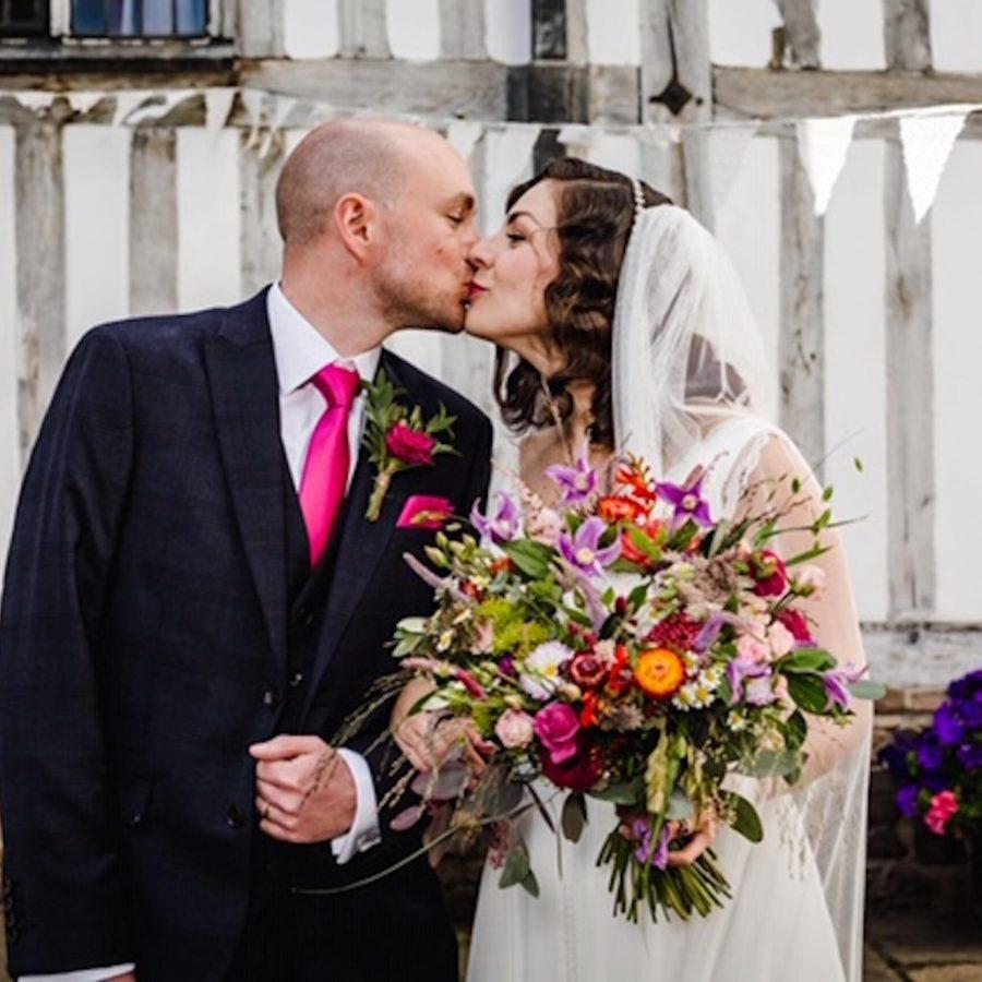 Vibrant Coloured Bridal Bouquet