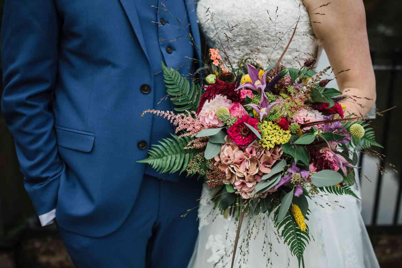 Bridal Bouquet Bursting With Colour