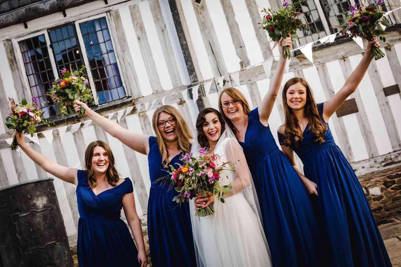 Vibrant Bridesmaids Bouquets