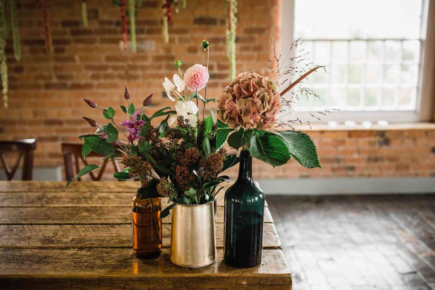 Wild Floral Table Decorations