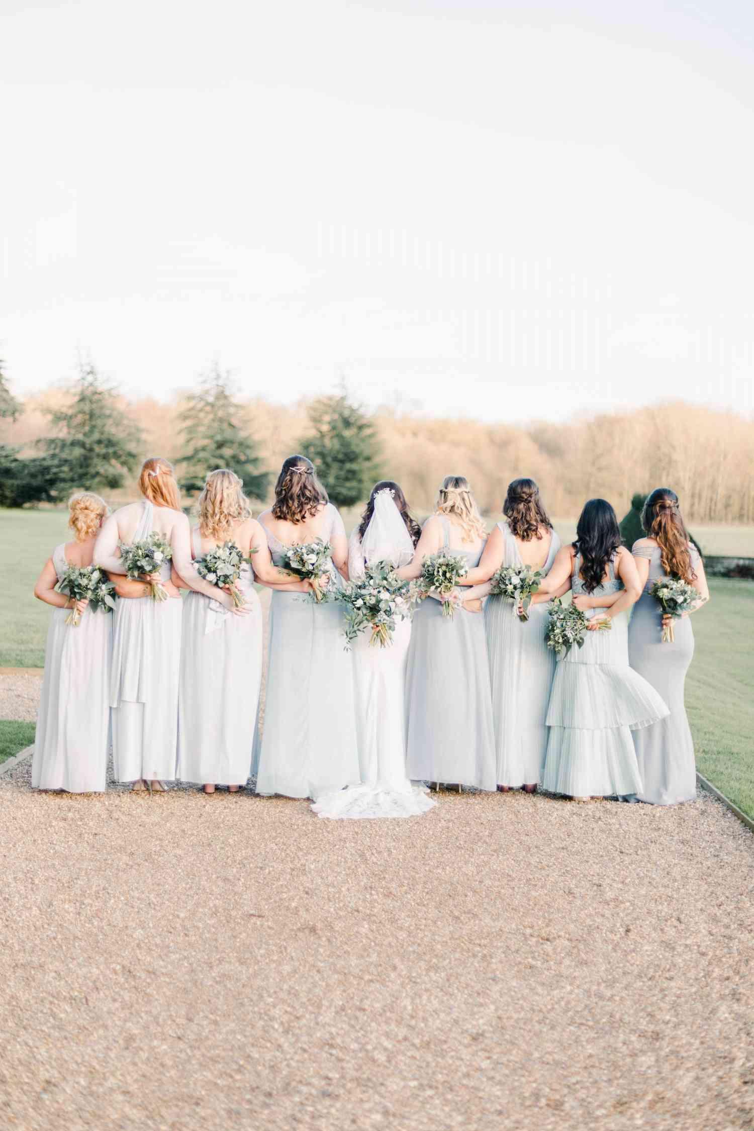 Brides and bridesmaides