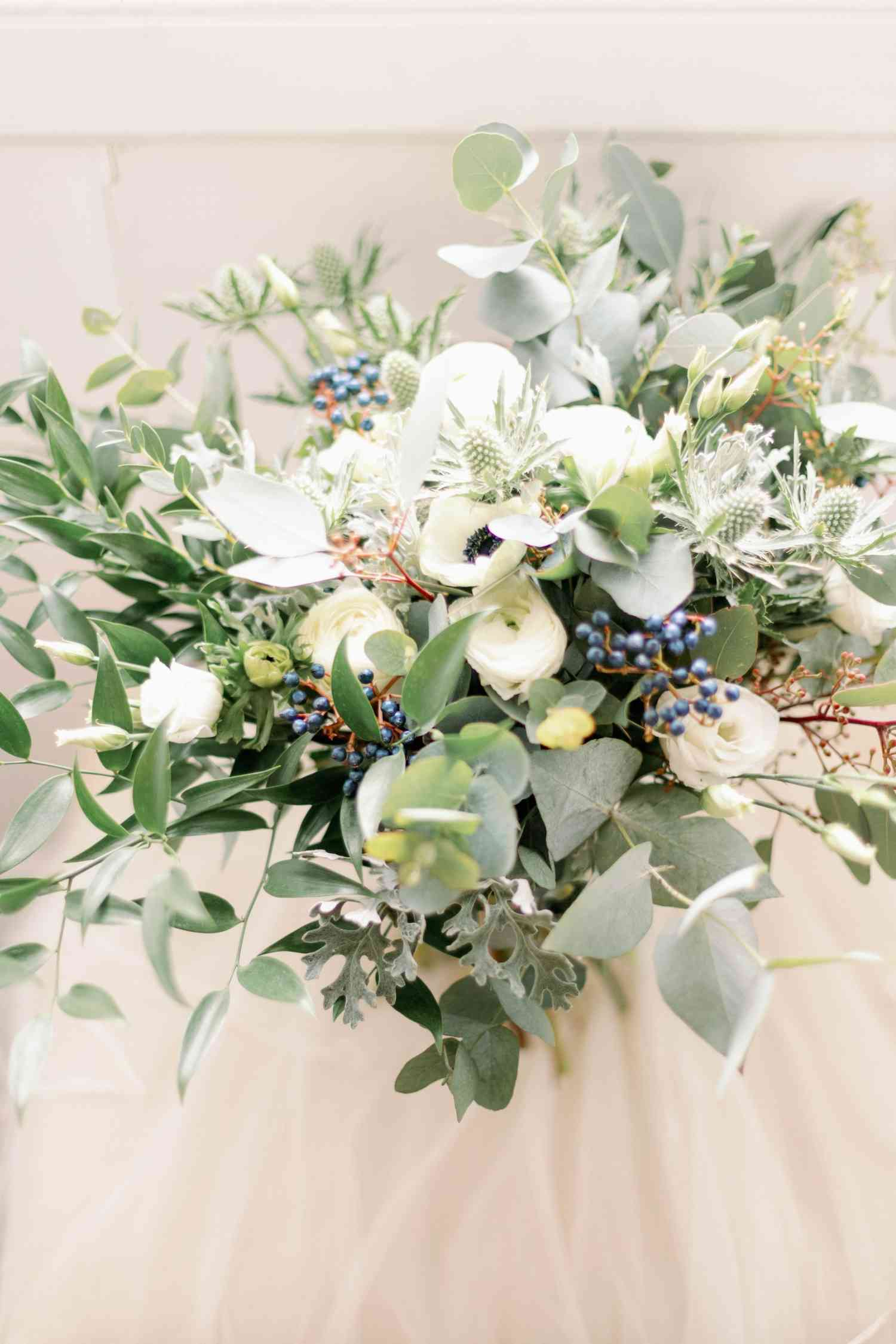 Wild whimsical bridal bouquet